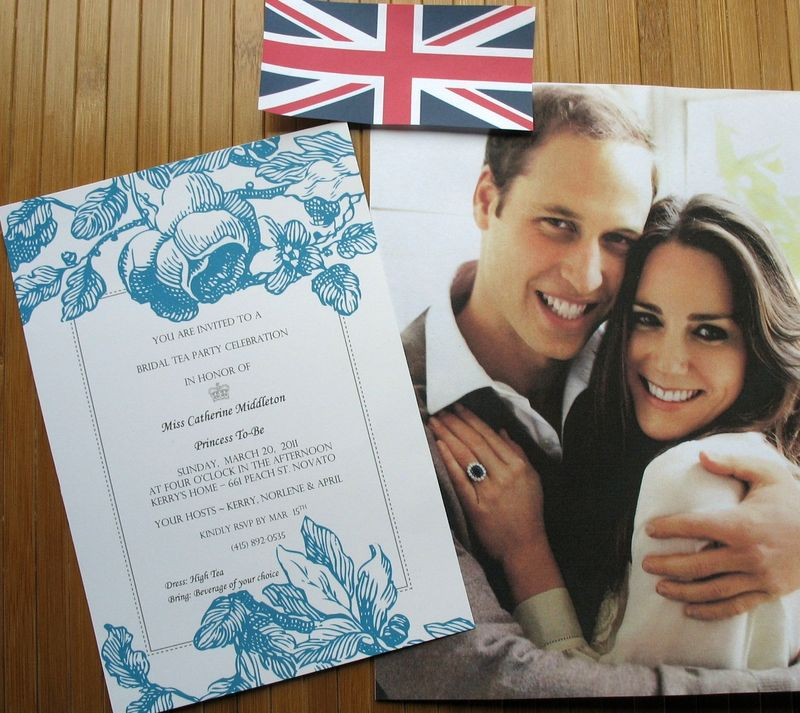 Invitation Royal Wedding Bridal Shower Tea Kate Middleton