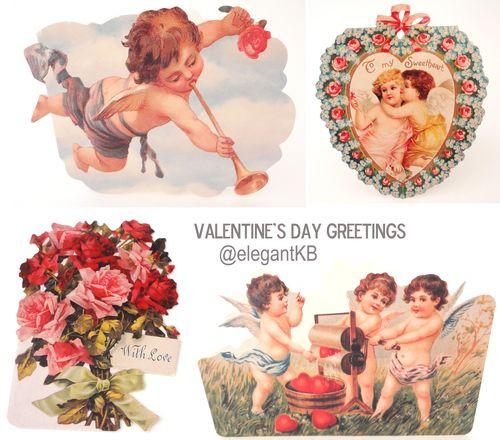 ElegantKB on eBay Valentines Cards Roses and Cupids