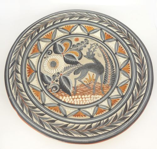Ceramic_plate_Mexican_deer_01